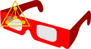 Радужные очки (10 штук)