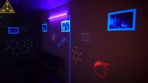 Ультрафиолетовая комната (светящиеся пигменты, технология создания краски)+подарок УФ грим