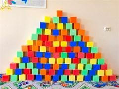 Поролоновые Кубики 10 см (5 цветов)