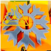 Поролоновые снежинки с окошками для лиц