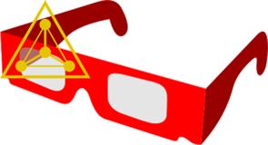 Радужные очки (1 штука)