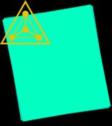 Светящаяся бумага формат А5 (3шт.+УФ фонарик)