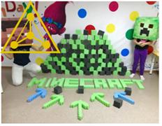 Поролоновые кубики 10 см 100 шт (темно-серые/зеленые)