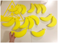 Поролоновые бананы ДЛЯ МИНЬОНОВ (30 штук)